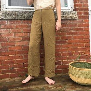 Vintage Olive Silk Pants